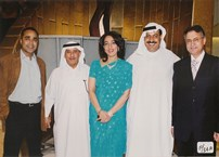 Jamal GM of Kibsons LLC. Saeed Beleilah, Chief of Immigration, Poonam Datta, Mr. Ramzan and Mr. Mansouri, of Fresh Fruits Co.