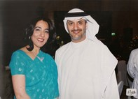 Poonam Datta with H.E. Rashed Saud Al Shamsi, Chairman of GPCA and Borouge Poonam Datta