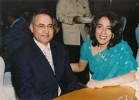 Poonam Datta with Mr.Mansouri, CEO of Fresh Fruit Company