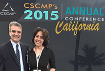 CSCMP PSresident & CEO, Rick Blasgen and Poonam Datta CCO, GES