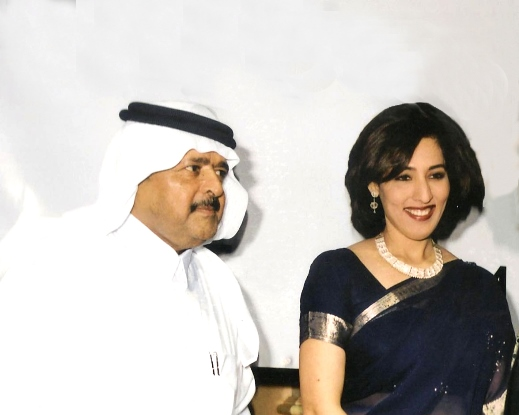 Sheikh Al Thani of Qatar and Poonam Datta.