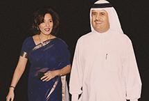 Jamal Majid Khalfan bin Thaniah ,Group CEO of Dubai world & Poonam Datta.