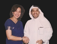 Mishal Hamed Kanoo, Chairman of the Kanoo Group and Poonam Datta