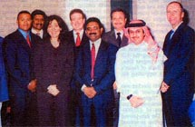 Poonam Datta with VIP customers in Qatar