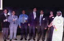 Maersk Sealand Nite:Poonam Datta, with VIP guests at the Emirates Towers Hotel, Dubai