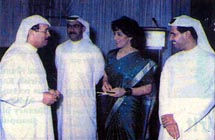 Hamad Mazrooei and Mohammed Mansoor of Dubai Customs, Mohammed Fahd of Dubai Police and Poonam Datta