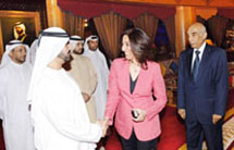 Ms. Poonam Datta with H.H. Sheikh Mohammed bin Rashid Al Maktoum, Vice-President,and Prime Minister of the UAE and Ruler of Dubai