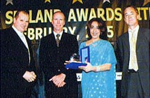 Keith Nuttal & Peter Richards from Gulftainer, and  Poonam Datta